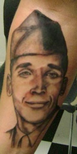 Cute Smile People Portrait Tattoo