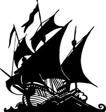 Dark Black Pirate Ship Tattoo Stencil