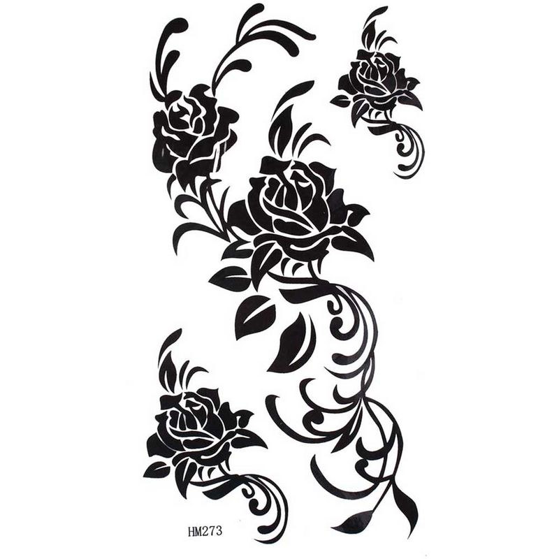 Dark Black Rose Tattoo Designs