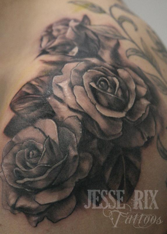 Dark Roses Tattoos