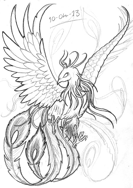 Date And Phoenix Tattoos Sketch