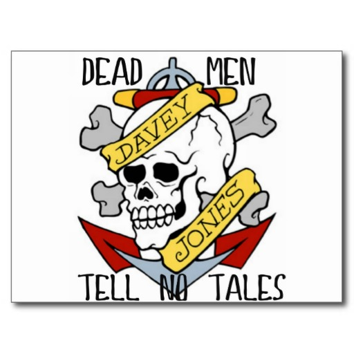 Dead Men Tell No Tales Pirate Tattoo Davey Jone Postcard