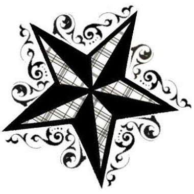 Decorative Nautical Star Tattoo Design