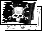 Design Of Pirate Flag Tattoo