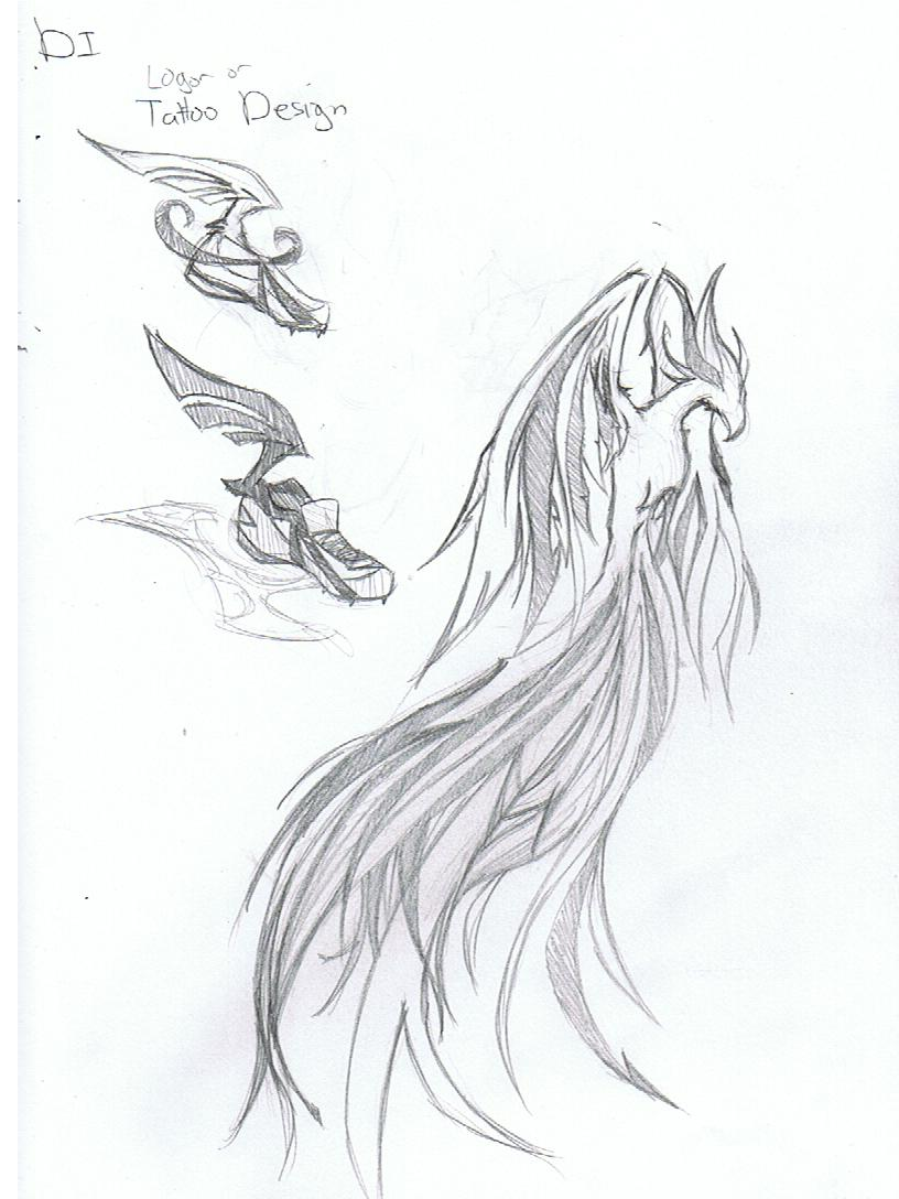 DI Phoenix Tattoo Sketch