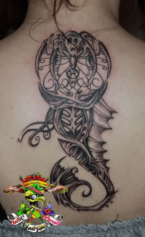 Different Pisces Mermaid Tattoos On Back
