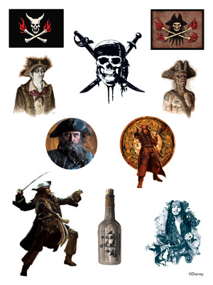 Disney Pirates Of The Caribbean Temporary Tattoos