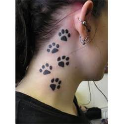 Dog Paw Print Tattoos For Girls And Women