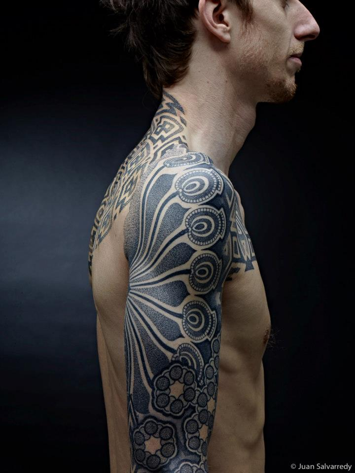 Dotwork Right Sleeve Tattoo