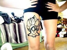 Dragonball Z Tattoo On Right Thigh