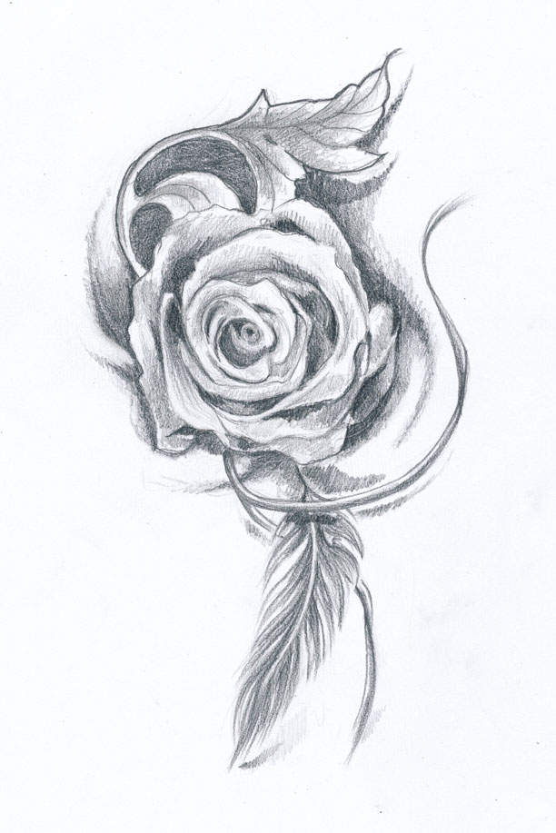 Drawing For Rose Tattoo