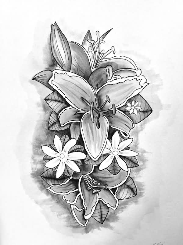 Drawing Of Flower Tattoos