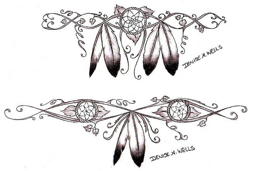 Dreamcatcher Native American Tattoo Designs