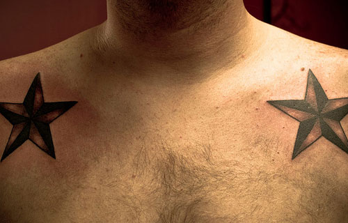 Dual Nautical Star Tattoos For Men