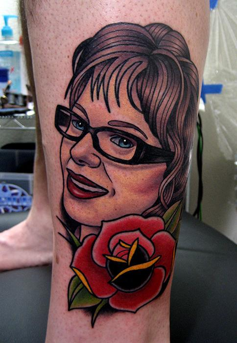 Educated People And Rose Tattoos On Leg