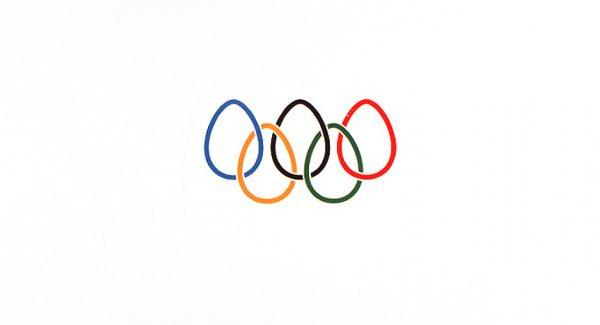 Egg Shape Olympic Rings Tattoo Design