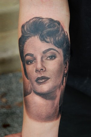 Elizabeth Taylor Portrait Tattoo For Everyone