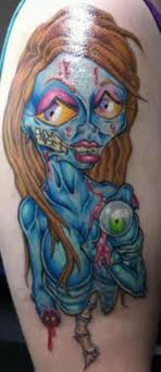 Evil Zombie Girl - Video Game Tattoo