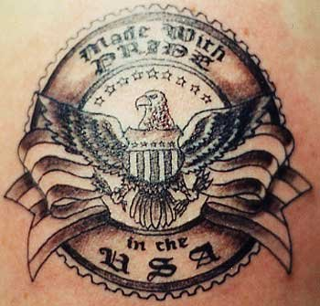 Fabulous USA Patriotic Tattoo