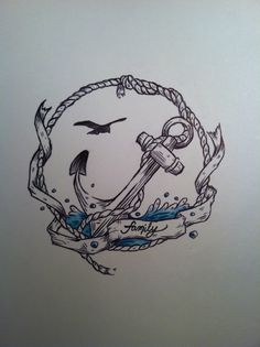 Family Nautical Tattoo Poster