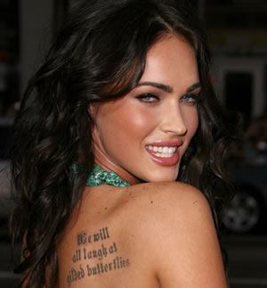 Famous People's Back Shoulder Tattoo