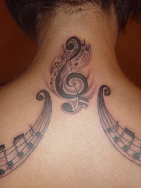 Fantastic Music Symbol Tattoos For Girls And Women
