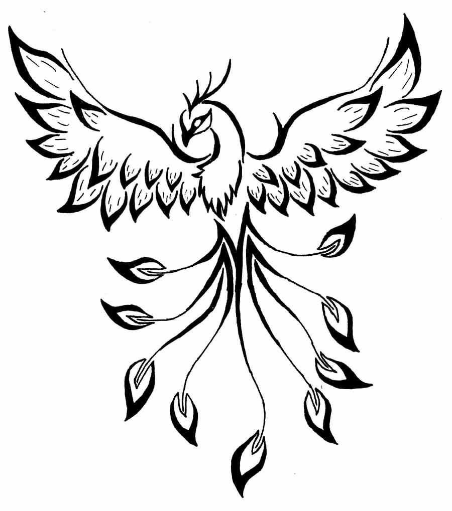 Female Phoenix Tattoo Design
