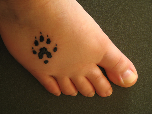 Ferret Paw Tattoo On Foot