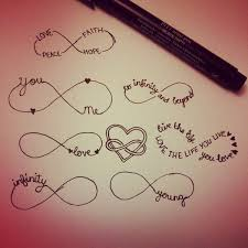 Few Infinity Symbol Tattoo Designs