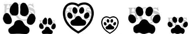 Few Paw Prints Tattoo Designs