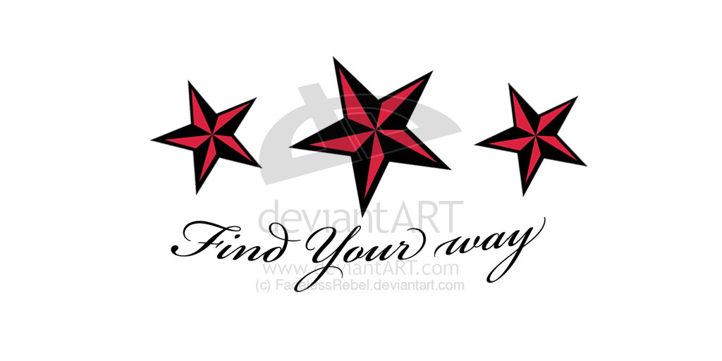 Find Your Way Nautical Star Tattoo Designs