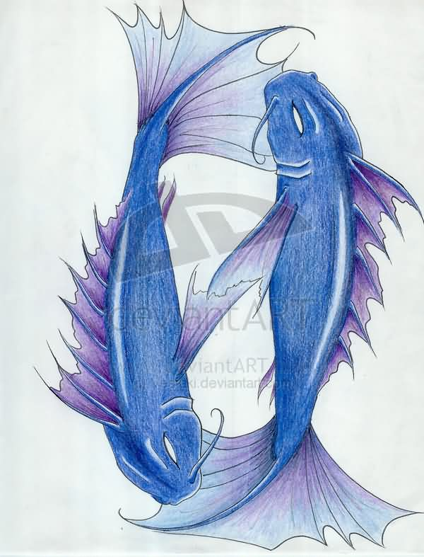Fish Pisces Sign Tattoo