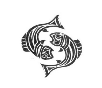 Fish Pisces Tribal Tattoo Design