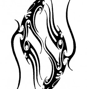Fish Pisces Tribal Tattoo Stencil