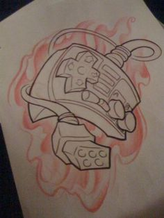 Flames And Game Controller Tattoos Page