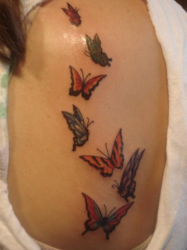 Flight Of The Butterflies Tattoos