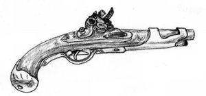 Flintlock Pistol Tattoo Sketch