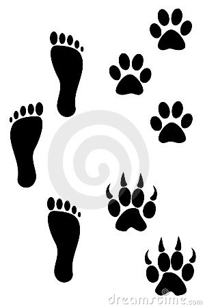 Foot And Paw Print Tattoso