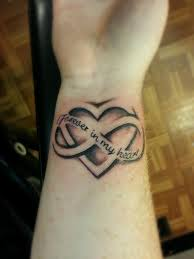 Forever Heart Infinity Symbol Tattoo On Wrist