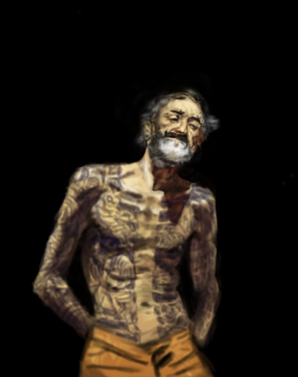 Fortuny Tribute Old Man Tattooed