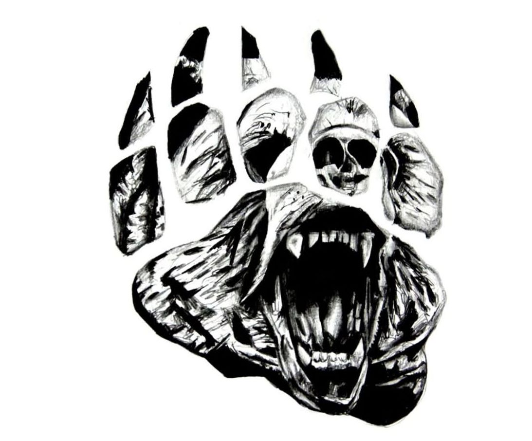 Free Bear Paw Tattoo Design