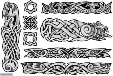 Free Grey Celtic Tattoos Sheet