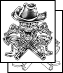 Free Hat Skull And Crossed Pistol Tattoo Designs