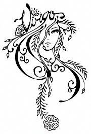 Free New Style Virgo Symbol Tattoo Design