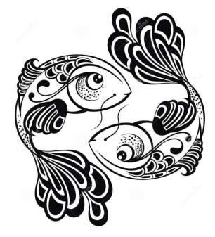 Free Zodiac Signs Pisces Tattoo Design