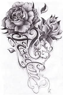 Freedom Roses Tattoos Design