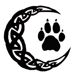 Fresh Celtic Moon And Paw Print Tattoo Sample