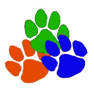 Fresh Colorful Paw Print Tattoos