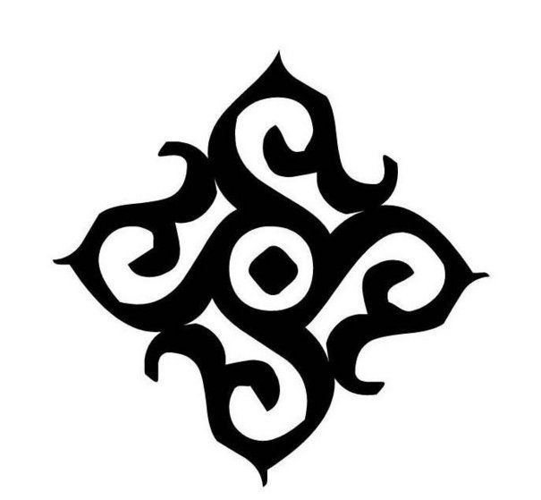 Fresh Dark Black Celtic Symbol Tattoo Design
