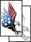 Fresh Eagle Patriotic Tattoo Design